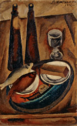 Still Life. Beer and a Roach. 1912