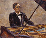 The Portrait of the Pianist V.V.Sofronitsky at a Grand Piano. 1932
