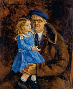 Self-Portrait with Granddaughter (Margot). 1943