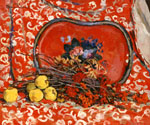 Still Life. Red Tray and Rowan. 1947